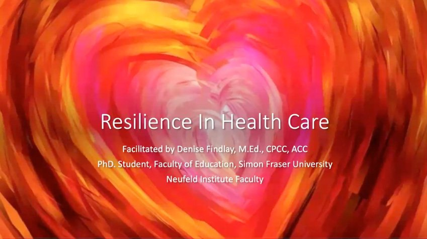 Resilience in Health Care - video session